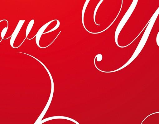 Produktfoto Wandbriefkasten - I Love You! -...