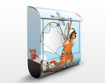 Product picture Design Letter Box Flying Farm Cat On The...