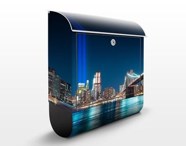 Produktfoto Briefkasten mit Zeitungsfach - Lichter des World Trade Centers - New York