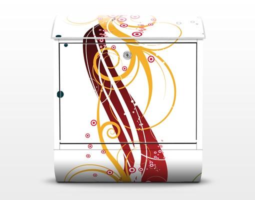 Produktfoto Briefkasten mit Zeitungsfach - Fragile bubbles - Wandbriefkasten