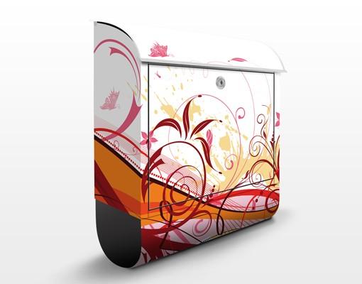 Produktfoto Briefkasten mit Zeitungsfach - July - Wandbriefkasten