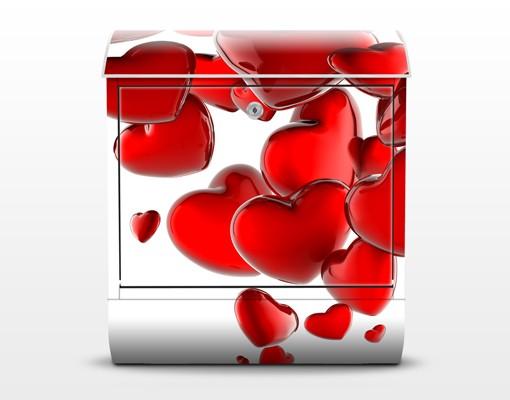 Produktfoto Wandbriefkasten - Herzballons -...
