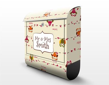 Product picture Design Letter Box Your Own Words Owl...