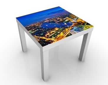 Produktfoto Beistelltisch - Bangkok Skyline  - Tisch Blau