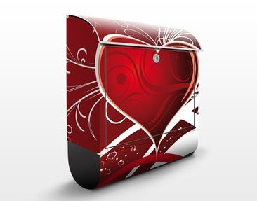 Product picture Design Letter Box Red Hearts 39x46x13cm