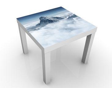 Produktfoto Beistelltisch - Die Alpen über den Wolken  - Tisch Blau