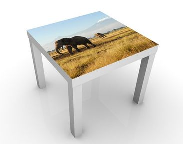 Immagine del prodotto Tavolino design Elefants In Front Of The Kilimanjaro In Kenya 55x55x45cm