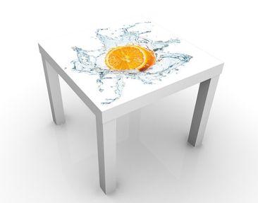 Produktfoto Beistelltisch - Frische Orange - Tisch Orange Weiß
