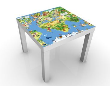 Produktfoto Design Table Great and Funny Worldmap...