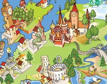 Product picture Design Table Great and Funny Worldmap...