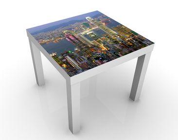 Produktfoto Design Tisch Hongkong Skyline 55x55x45cm
