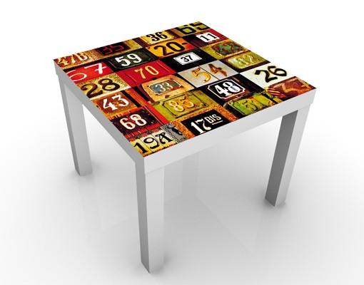 Design Tisch - Numbers - Tische Bunt