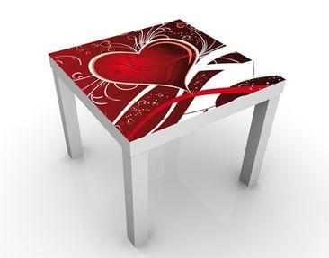 Produktfoto Design Tisch - I Love You - Tisch Rot