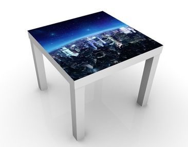 Produktfoto Beistelltisch - Illuminated New York  - Tisch Blau