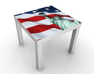 Product picture Design Table In God We Trust 55x55x45cm