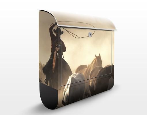 Produktfoto Briefkasten mit Zeitungsfach - Cowboys -...