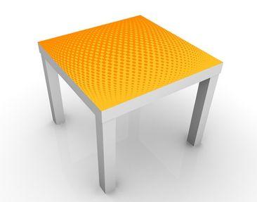 Produktfoto Beistelltisch - Retro Disco Kugel - Tisch Gelb Orange