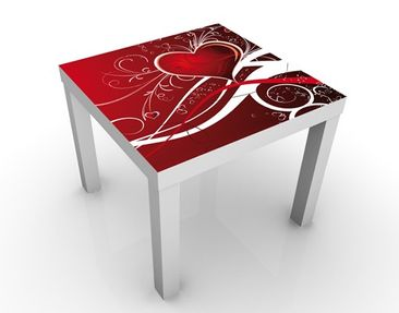 Product picture Design Table Red Hearts 55x55x45cm