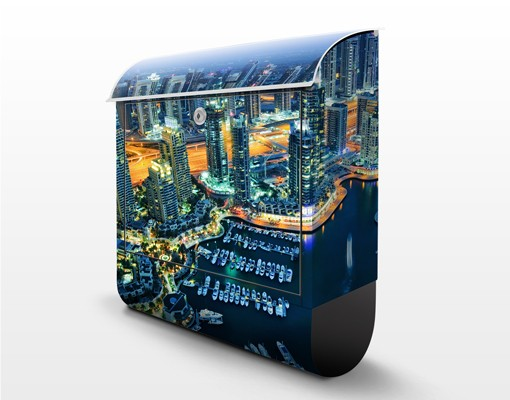 Produktfoto Briefkasten mit Zeitungsfach - Dubai Marina - Wandbriefkasten
