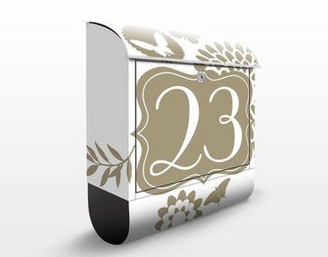 Produktfoto Briefkasten mit eigenem Text & Hausnummer - No.JS305 Wunschtext Peaceful