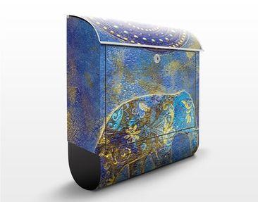 Produktfoto Wandbriefkasten - Elephant in Marrakech - Briefkasten Bunt
