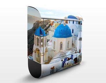Produktfoto Briefkasten mit Zeitungsfach - Santorini - Wandbriefkasten