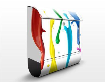 Produktfoto Wandbriefkasten - Farbspritzer - Briefkasten Bunt
