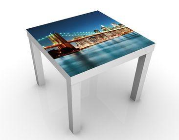 Immagine del prodotto Tavolino design Nighttime Manhattan Bridge 55x55x45cm