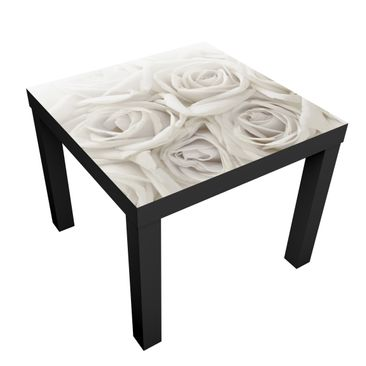 Product picture Design Table White Roses 55x55x45cm
