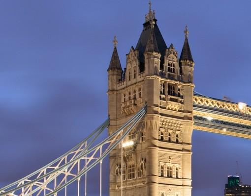 Produktfoto Beistelltisch - Tower Brücke bei Nacht  - Tisch Blau