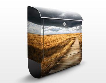 Produktfoto Briefkasten mit Zeitungsfach - Weg in den Dünen - Hausbriefkasten