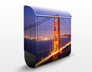 Immagine del prodotto Cassetta postale Golden Gate Bridge At Night 39x46x13cm