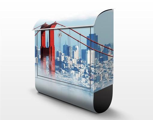 Produktfoto Briefkasten mit Zeitungsfach - Good Morning, San Francisco! - Wandbriefkasten