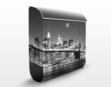 Produktfoto Briefkasten mit Zeitungsfach - Nighttime Manhattan Bridge II - New York