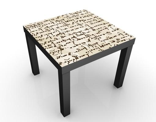 beistelltisch da vinci manuskript tisch braun. Black Bedroom Furniture Sets. Home Design Ideas