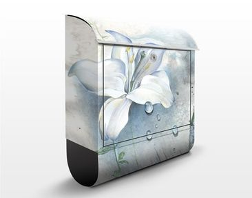 Produktfoto Briefkasten mit Zeitungsfach - Tränen einer Lilie - Briefkasten Blumen