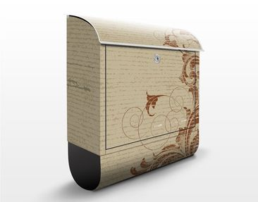 Product picture Design Letter Box Leaves Cirrus...