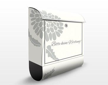 Produktfoto Briefkasten mit Zeitungsfach - No.JS322 Keine Werbung IV I- Briefkasten Blumen