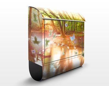 Produktfoto Briefkasten mit Zeitungsfach - No.CG86 Butterfly Wood - Hausbriefkasten