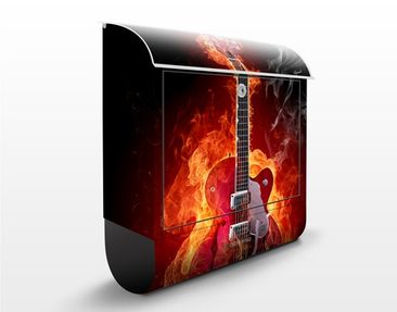Produktfoto Design Letter Box Guitar in Flames...