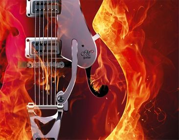 Product picture Design Letter Box Guitar in Flames...