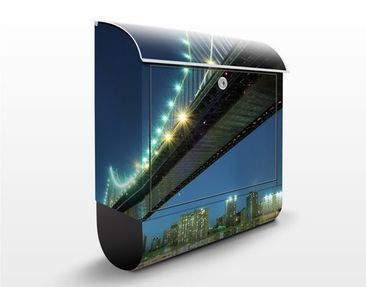 Produktfoto Briefkasten mit Zeitungsfach - Abstract Manhattan Bridge - New York