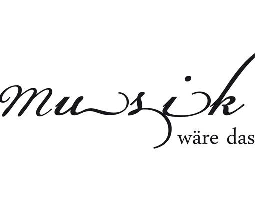 Produktfoto Wandtattoo Zitate - Wandzitate No.CA33 Ohne Musik