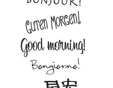 Product picture Wall Decal no.UL989 Good Morning...