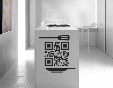 Produktfoto Wandtattoo No.UL1003 QR-Code KUECHE