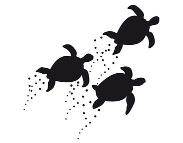 Product picture Wall Decal no.CA34 Turtle Shoal