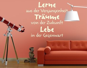 Product picture Wall Decal no.EK219 Lebe Lerne Träume