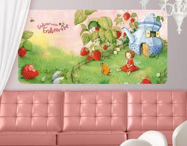 Produktfoto Selbstklebendes Wandbild Erdbeerinchen Erdbeerfee - Im Garten