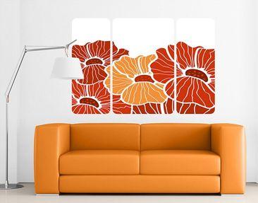 Produktfoto Wall Mural Poppies Of Summer Triptych II