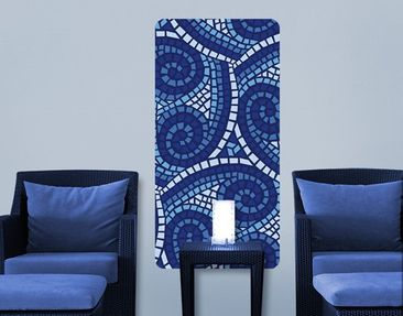 Produktfoto Wall Mural Blue Mosaic Waves